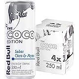 Energético Red Bull Energy Drink, Coco e Açaí editon , 250ml (4 latas)