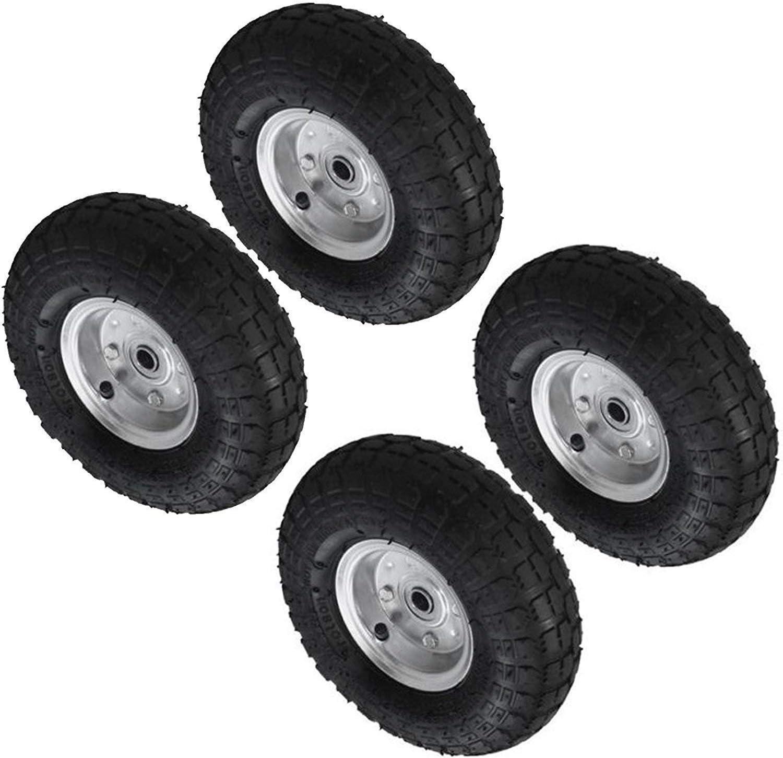 Set of 2-10 Pneumatic Wheels For Sack Trucks//Trolleys//Wheelbarrows