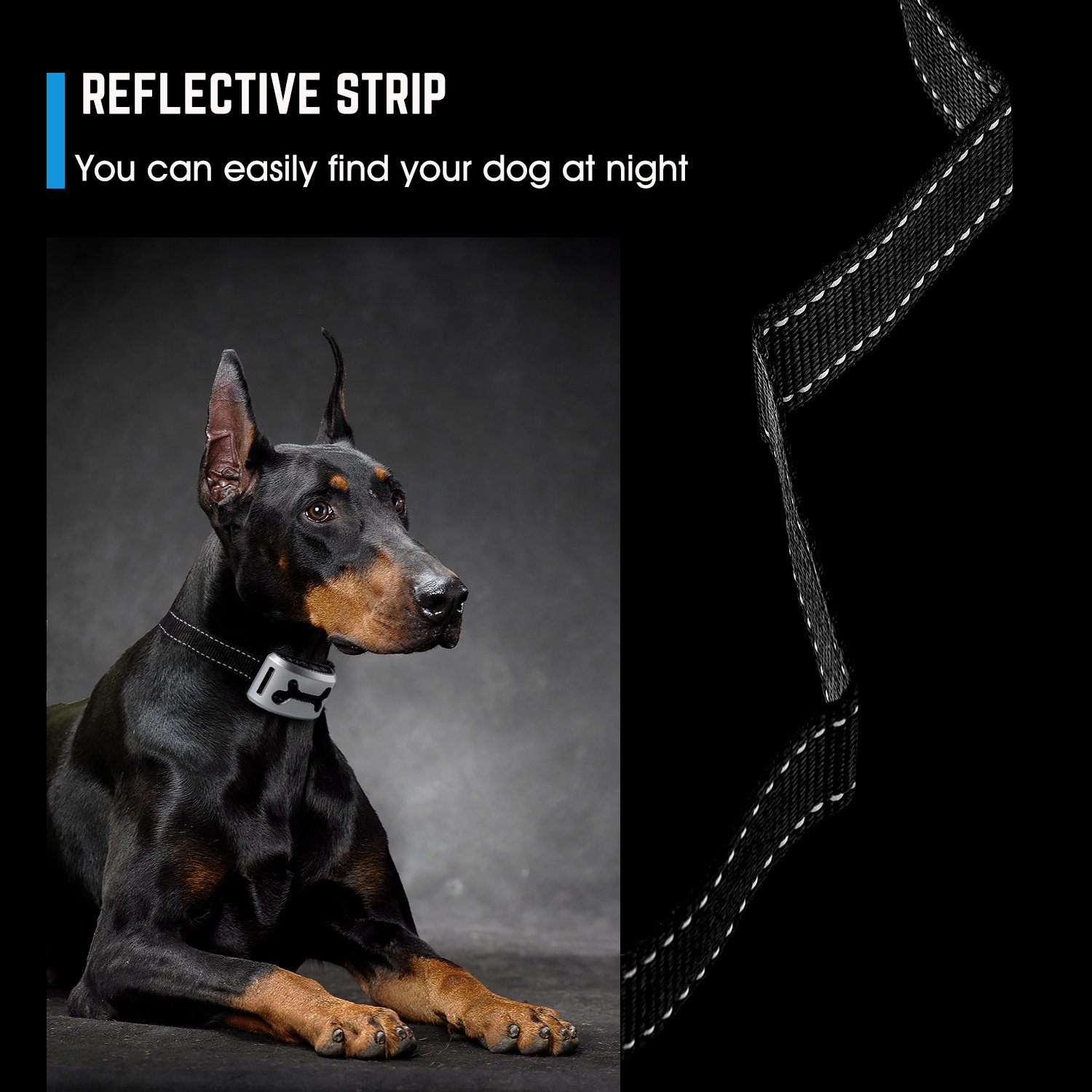 Bark Collar [2018 Smart Chip] Dog Shock Anti-Barking Collar with Beep, Vibration and Harmless Shock. No Bark Control for Small/Medium/Large Dogs with 7 Sensitivity Levels, Rechargeable and Rainproo