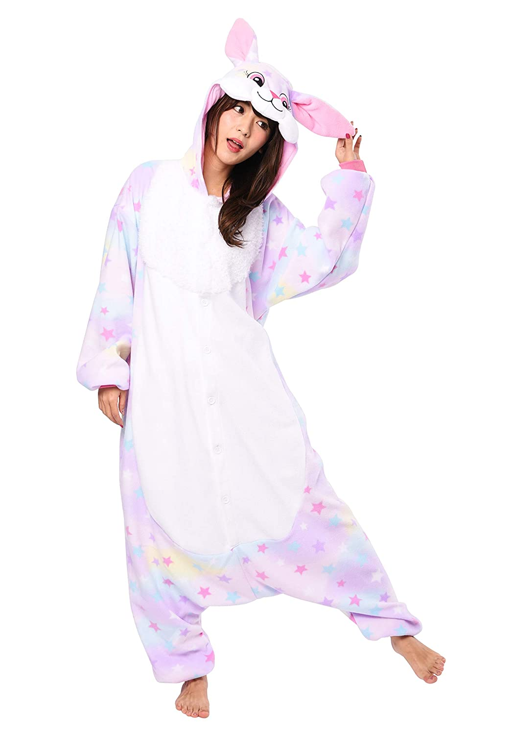 d9531cf5f282 Amazon.com  Rabbit Onesie Kigurumi  Clothing