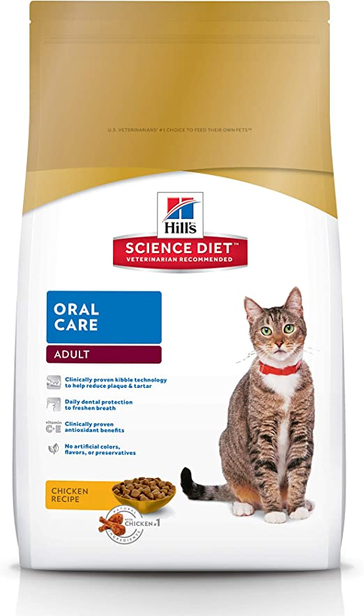 hills science diet adult oral care cat food
