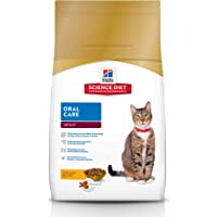 Hill's Science Diet Adult Oral Care Cat Food, Chicken Recipe Dry Cat Food for Dental Health, 3.5 lb Bag