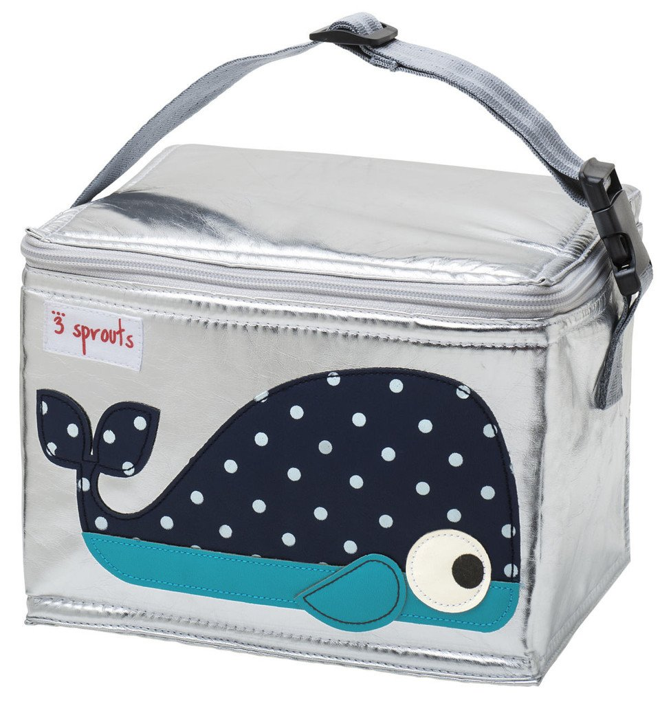 3 Sprouts Lunch Bag Bulldog Grey