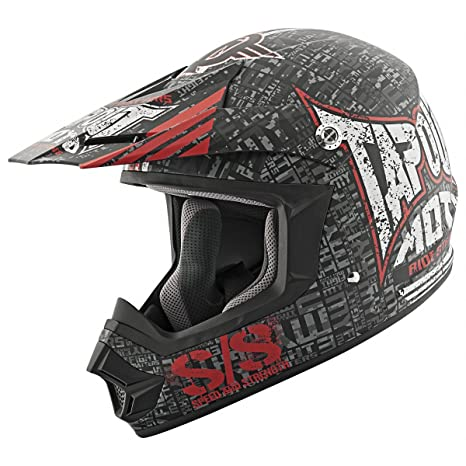 Amazon.com: Velocidad y fuerza Tapout Moto Full Face SS2300 ...