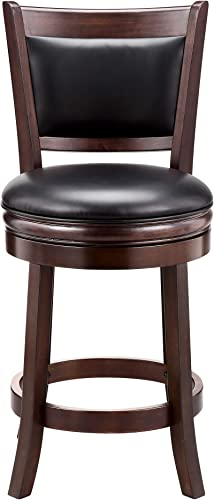 Ball Cast Counter Height, Pack of 2 Swivel Stool, 24-Inch,2-Pack, Cappuccino