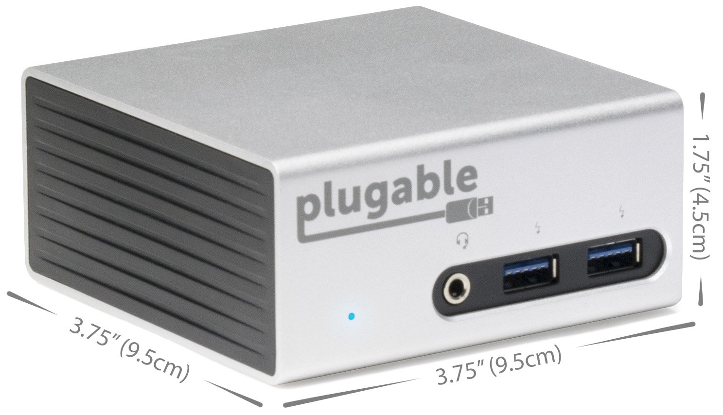 Plugable Universal USB 3.0 Docking Station with Dual Video Outputs and 4K Support for Windows 10, 8.1, 7 (HDMI & DVI/VGA, Gigabit Ethernet, Audio, 4 USB 3.0 Ports, VESA mount Aluminum Mini) by Plugable (Image #4)