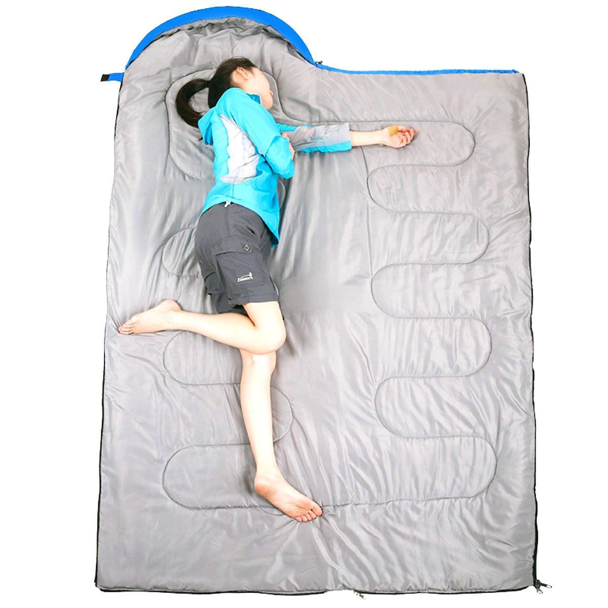 Homiki Saco de Dormir Ligero para Camping Senderismo Monta/ñas Ultraligero Impermeable Color Azul Sacos Bolsas T/érmicas