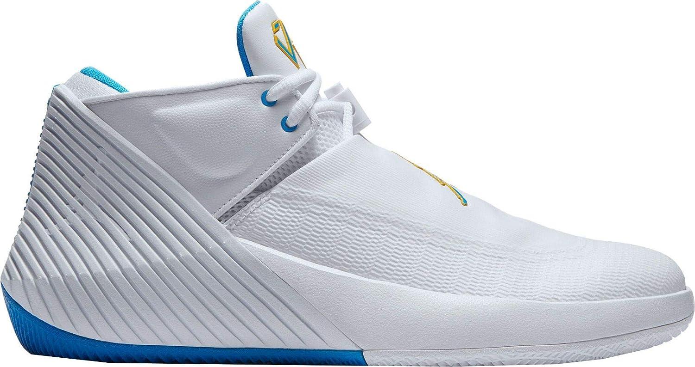 White bluee Hero yellow Jordan Nike Men's Why Not Zero.1 Low Basketball shoes