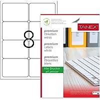 Tanex TW-2008 Lazer Postalama, Davetiye, Kargo İşleri İçin Her Pakette 100 Sayfa Etiket, Beyaz