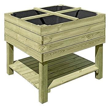 Gartenpirat Hochbeet Aus Holz 92x92x80 Cm Bausatz Krauterbeet Fur