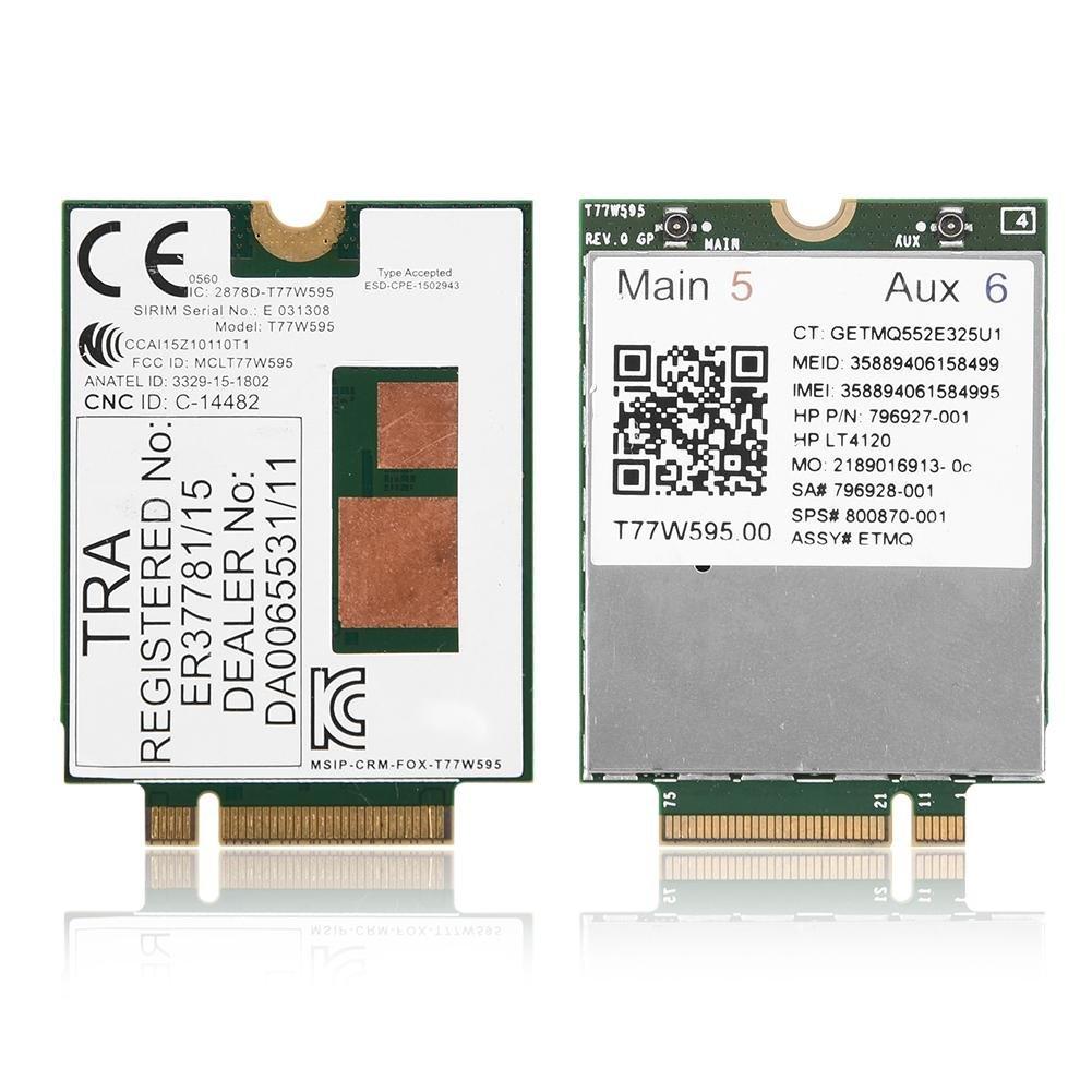 Yosoo for HP LT4120 for Snapdragon X5 LTE T77W595 796928-001 4G WWAN M.2 Modem Module 150Mbps by Yosoo