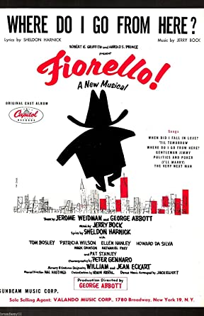 Bock Harnick FIORELLO Song Cut During Tryouts Tom Bosley 1959