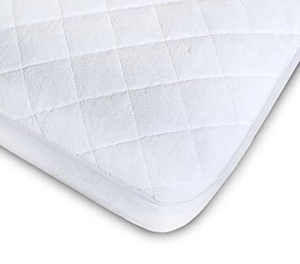 Crib Mattress Pad - Fitted, Quilted Premium Quality Bamboo Crib Mattress Cover is soft, breathable and provides Comfortable Sleep - Waterproof Crib Mattress Protector By Enovoe