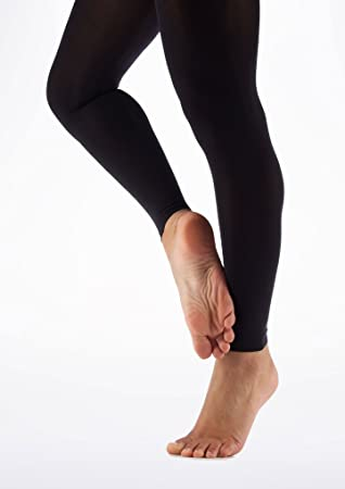 c4f1f4002b475 Mytoptrendz® Women's Footless Dance Tights Soft Opaque with Spandex - Black  large: Amazon.co.uk: Sports & Outdoors