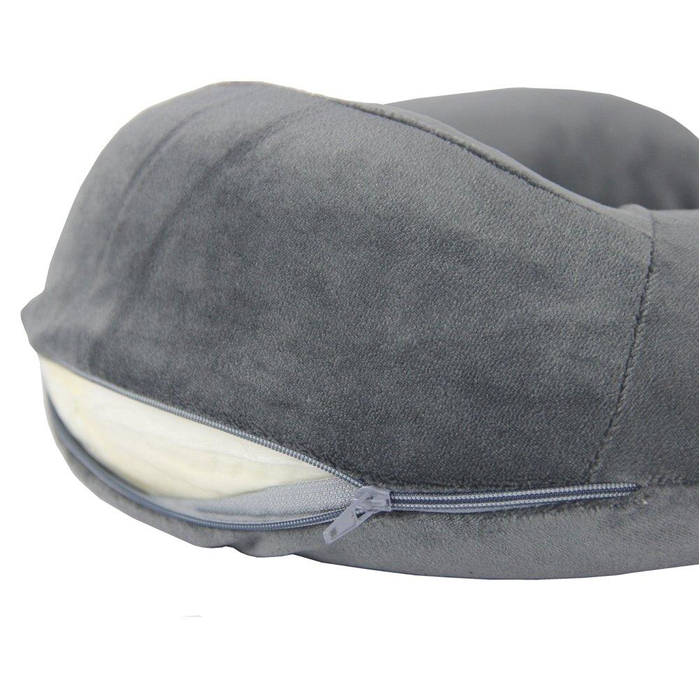 Alk Almohada de espuma con forma de U, soporte para el cuello y la cabeza, ideal para dormir, leer durante el día de la semana, para el hogar, ...