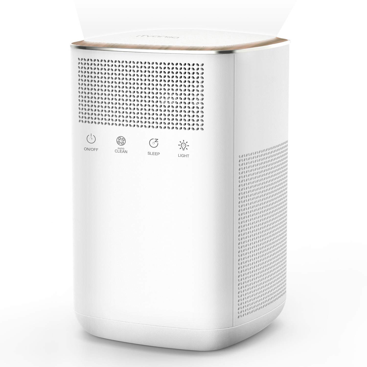 iTvanila Air Purifier with 3M True HEPA Filter, Room Air Purifiers, Quiet and 99.97% Air Cleaner Purifier, Odor Allergies Eliminator for Smoke, Dust, Mold, Pollen, Pets,Home, with Night Light