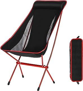 Minilism Outdoor Chaises de camping pliable portable Lune Leisure Chaise Chaises de plage avec sac de transport pour randonnée/voyage/chasse/pêche, Red YUEBO