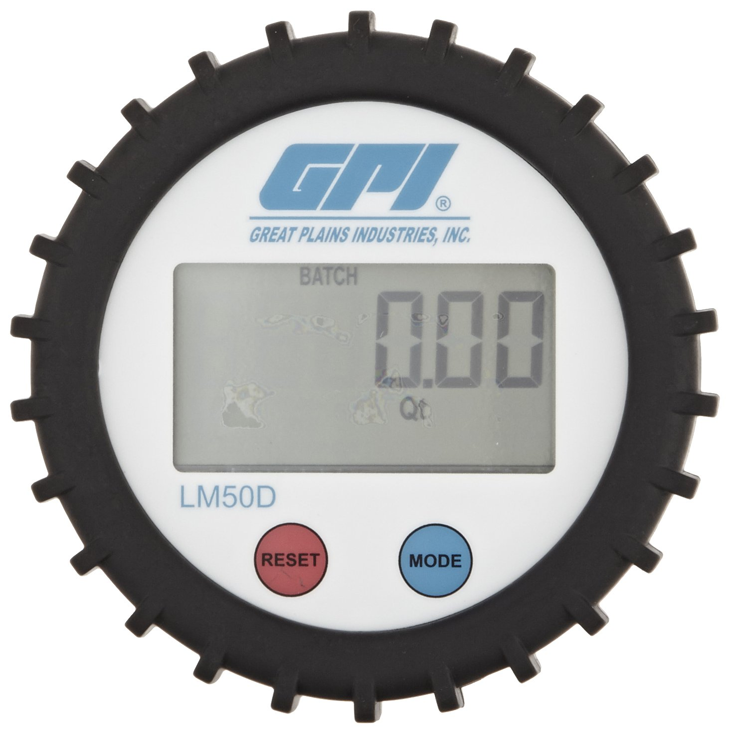 GPI LM51DN Aluminum Oval Gear Flowmeter, 0.26 to 7.8 gpm Flow Range, 1/2'' FNPT by GPI® The Proven Choice® (Image #2)
