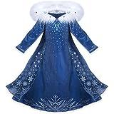 NNDOLL Vestido de Princesa Carnaval Vestido de niña Traje de niños Deluxe Elsa 131