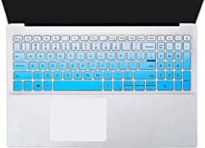Keyboard Cover Skins Compatible with Dell Inspiron 15 5000 5584 5590 5593 5598 5508 5501, Inspiron 15 7000 7590 7591 i7590 i7591 7501, Dell Vostro 15 7590 5590 Keyobard Protective Skin