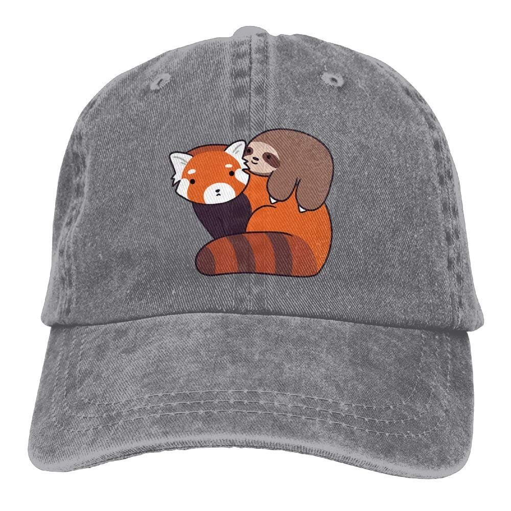 HU MOVR Cowboy Hat Sloth Ride A Fox Adjustable Cowboy Style Cap Unisex Adult