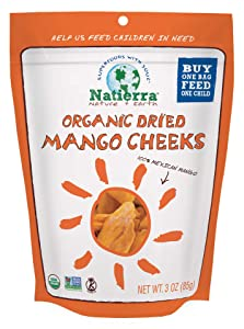 NATIERRA Organic Dried Mango Cheeks | No Sugar Added | Non-GMO & Vegan | 3 Ounce
