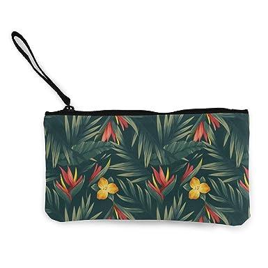 Amazon.com: Monedero de lienzo con diseño de flores ...