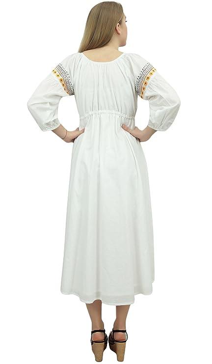 Bimba Vestido de Maternidad de enfermería Mamás Chicas Mangas de Soplo con cordón de Las Mujeres: Amazon.es: Ropa y accesorios