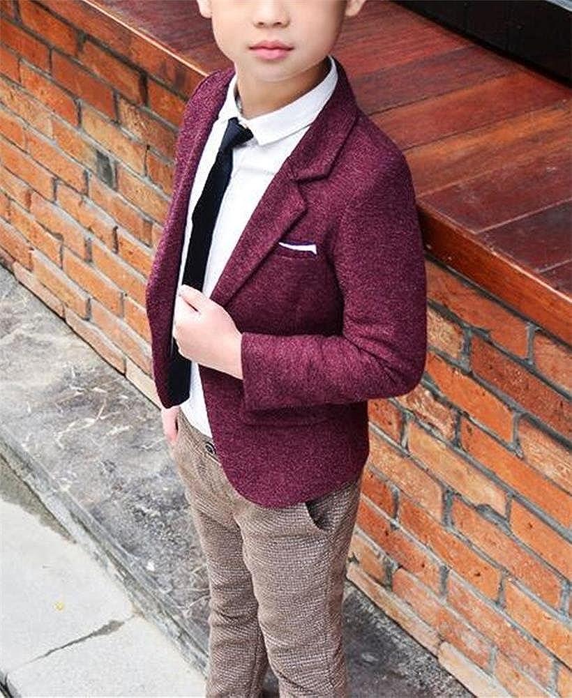 FOLOBE Boys Blue Casual Blazer Jackets Kids Botton Coat Outwear 2018