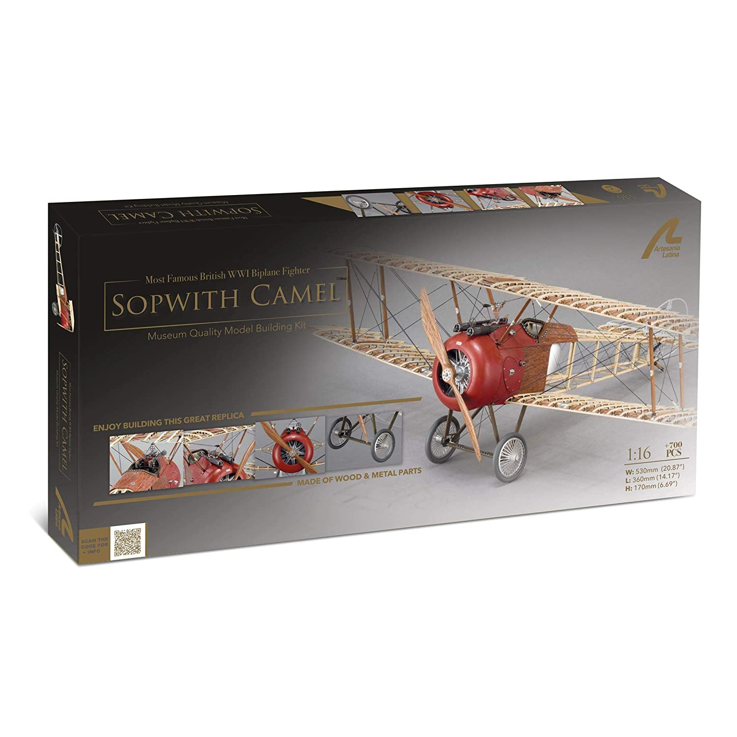 WOOD MODEL BIPLANE KIT 16 Wooden Pieces COMPLETE KIT