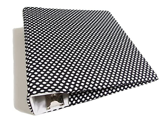 amazon com fabric binder cover in black and white dots for 2 3