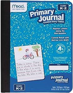 Mead Primary Journal Creative Story Tablet, Grades K-2, Kindergarten 2nd Grade Workbook (09554)