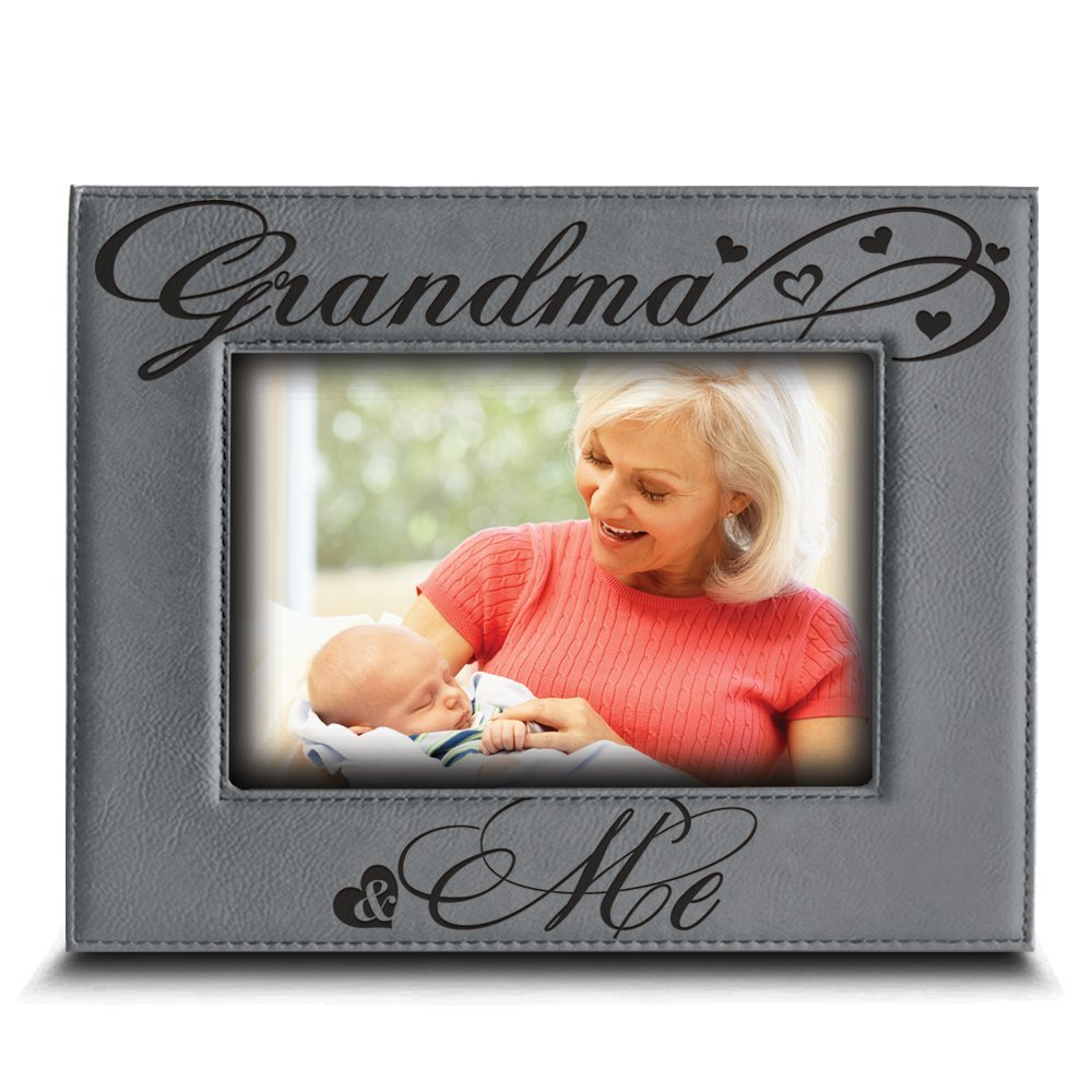 Bella Busta Grandma And Me Picture Frame Grandma Gifts Gift For Grandparents Engraved Leather Picture Frame 4x 6 Horizontalgrandma