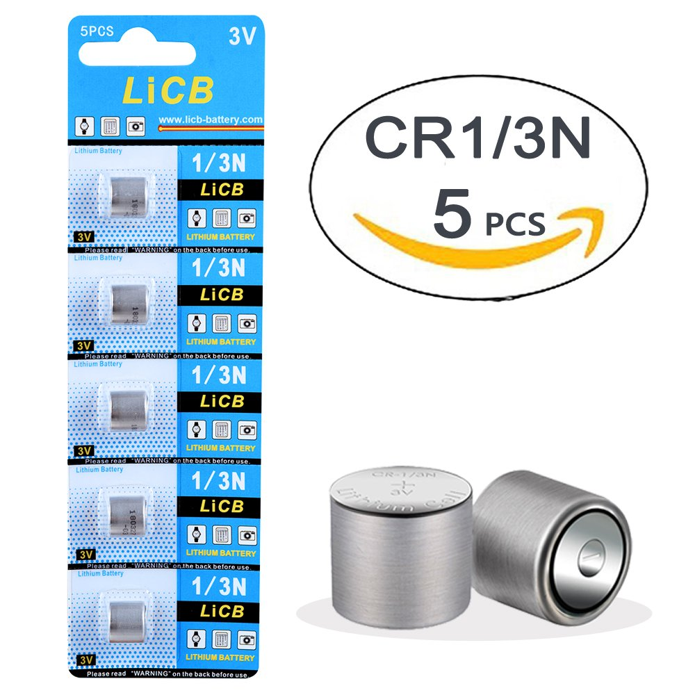 LiCB 5 Pack CR1/3N 3V Lithium Battery Replacement for DL1/3N CR 1/3N Batteries