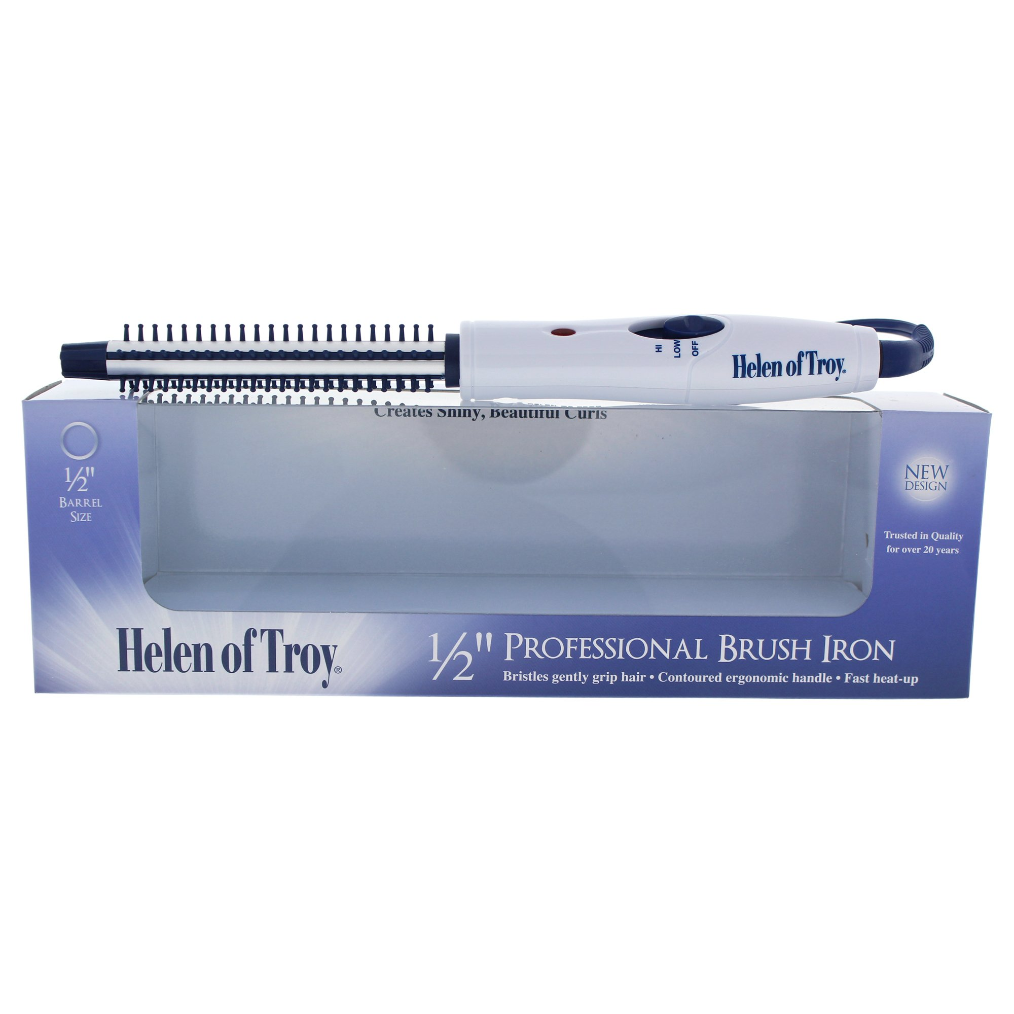 Helen of Troy 1512 Brush Iron, White, 1/2 Inch Barrel