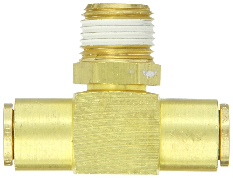 1//4 NPT Male x Tube OD Air Brake Tube Fitting Eaton Weatherhead 1872X4X4 Brass CA360 D.O.T Branch Tee