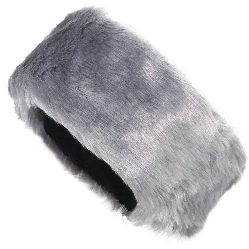 FUNOC New Ladies Womens Luxury Faux Fur Headband Winter Ski Ear Muffs Earwarmers Hat 02334175613