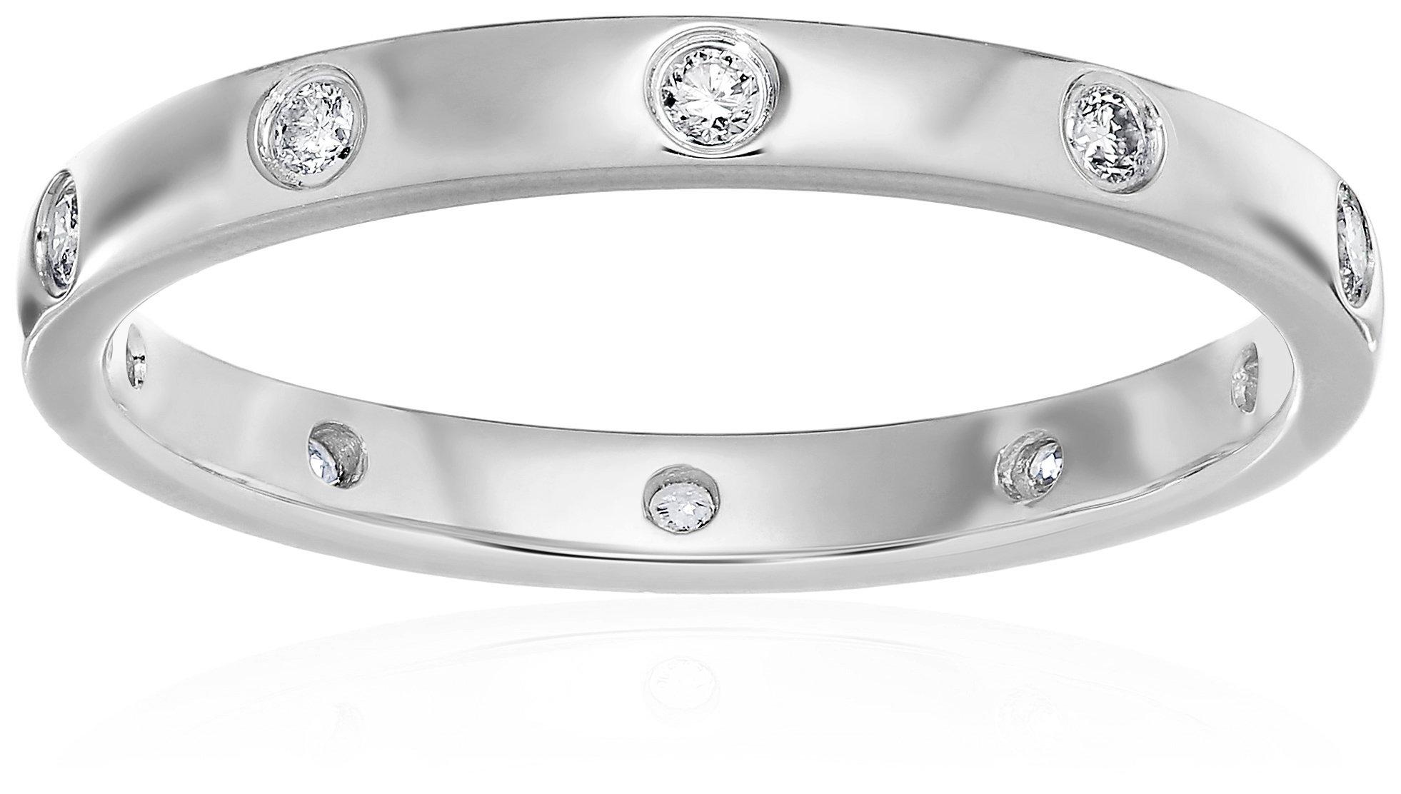 10k White Gold Eternity Diamond Eternity Ring, Size 7