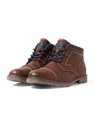 TOM TAILOR für Männer Schnürstiefel Schuhe Schnürstiefel Männer in Vintage Optik  Amazon ... ccc17b
