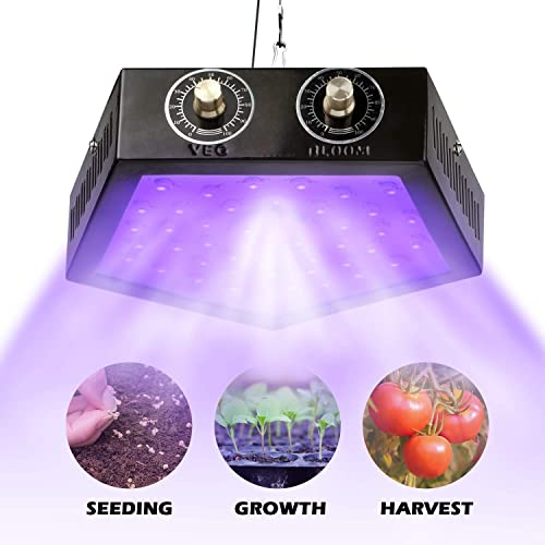 GiBot 1000W Grow Light Plant Lights LED Lamp Bulbs Full Spectrum for Indoor Plants for Indoor Plants Seedling Hydroponic Succulents Flower