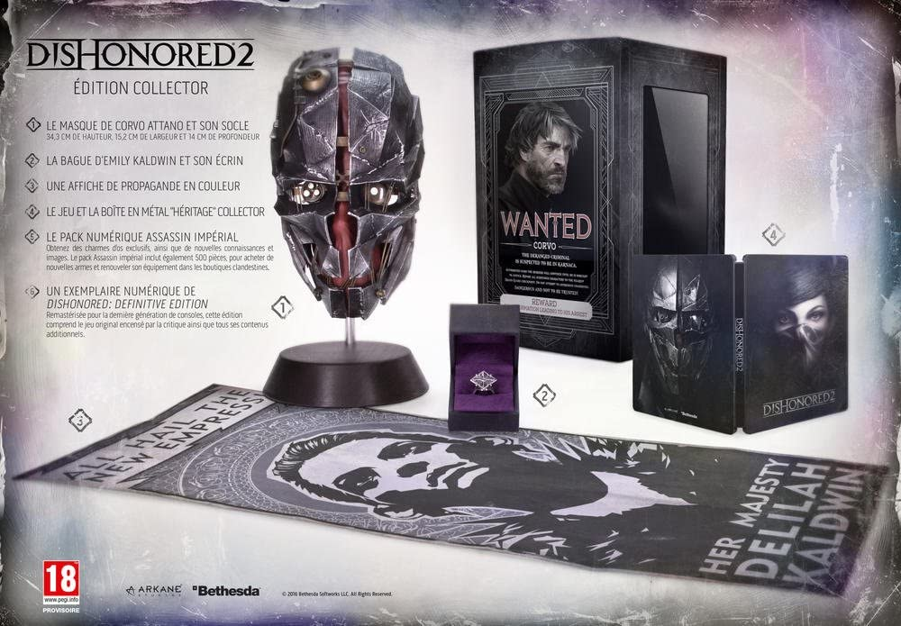 Dishonored 2 - Édition Collector [Importación Francesa]: Amazon.es ...