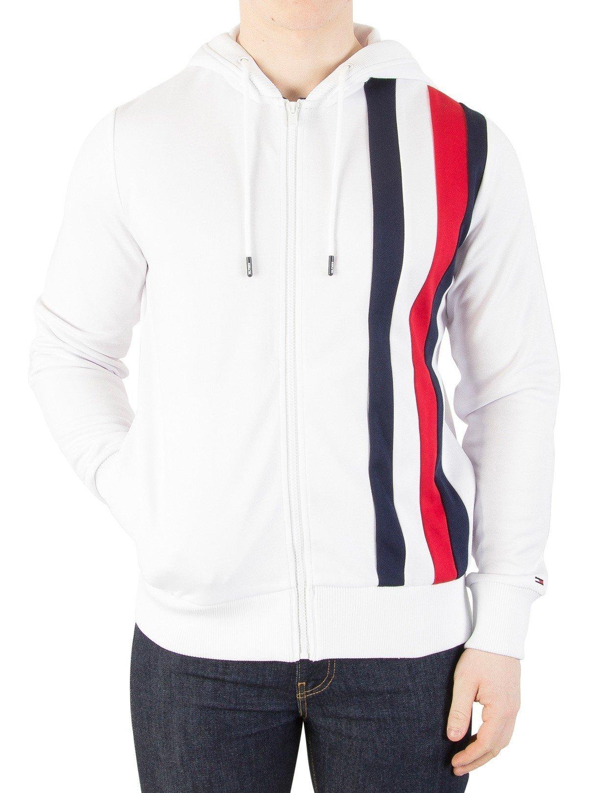 Tommy Hilfiger Men's Sporty Tech Zip Jacket, White, Large by Tommy Hilfiger