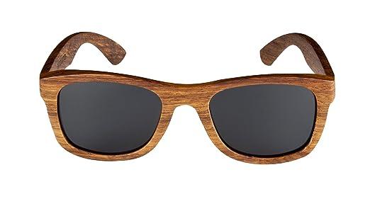 Lunettes de soleil cadre en bois de poirier de lunettes en bois de poirier et en bambou bamboo-wood eyewaer lunettes style wayfarer YGBV2Fy
