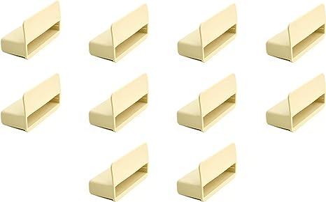 53 mm Paquete de 10 soportes para láminas de madera de somier individual de color beis