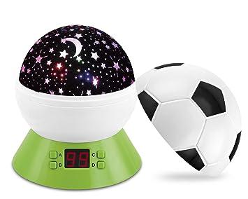 Amazon.com: Bebé luz de noche proyector de estrellas, fútbol ...