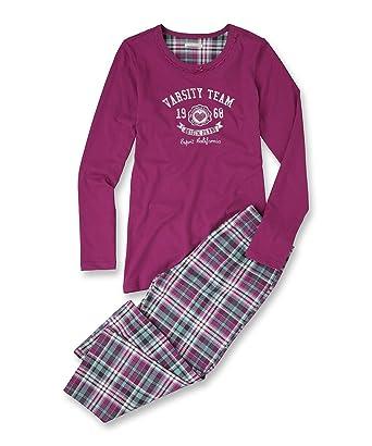 5284b366ae ESPRIT Bodywear Mädchen Pyjama, kariert 103EF5Y001/VARSITY CHECK, Gr. 170/ 176