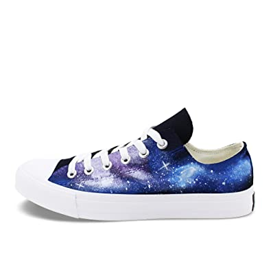 4b8ff702745 Image Unavailable. Image not available for. Color  Wen Fire Classic Low Top Canvas  Shoes Black Design Galaxy Hand Painted Shoes Sneakers