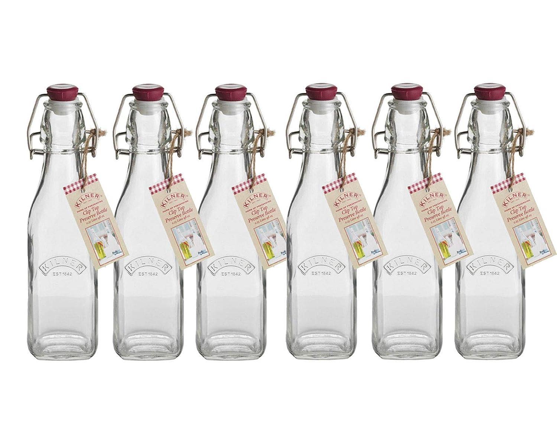 Kilner, botellas de almacenamiento de vidrio con cierre hermético ...