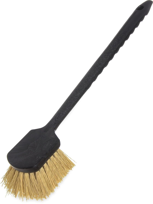 Carlisle 3650500 Sparta Utility Scrub Brush with Polypropylene Bristles, 8.5' Length, 3' Width, 2' Height, 8-1/2' x 3'