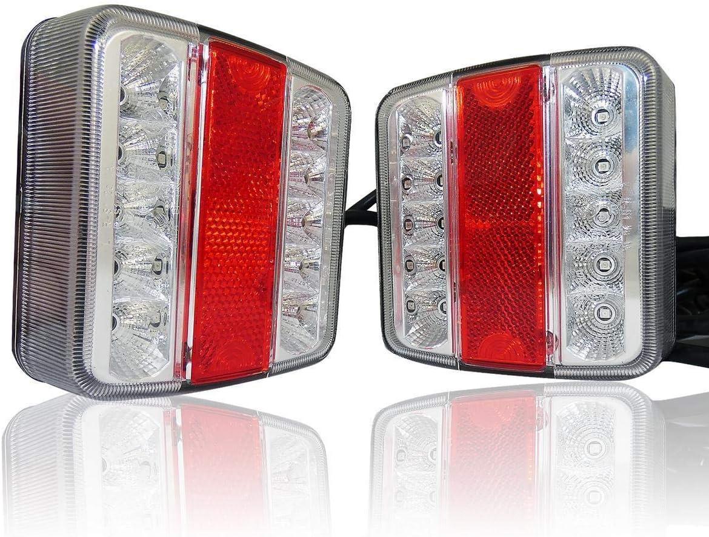 flexzon Magnetic led rear board lamps tail brake stop indicator lights trailer camper
